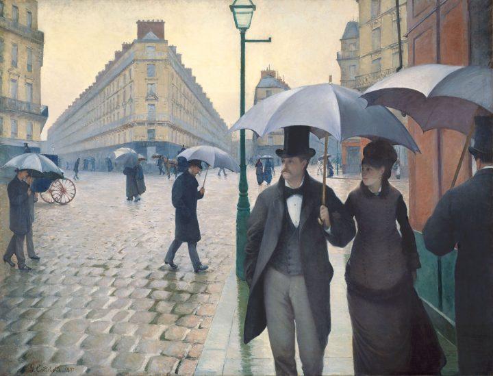 Gustave Caillebotte, Strada di Parigi; giorno di pioggia, 1877