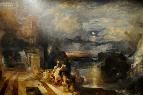Joseph Mallord William Turner - The Parting of Hero and Leander, 1837 at Tate Britain Art Museum London England