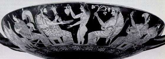 Oltos, Banchetto degli dei, 510 a.C. ca.