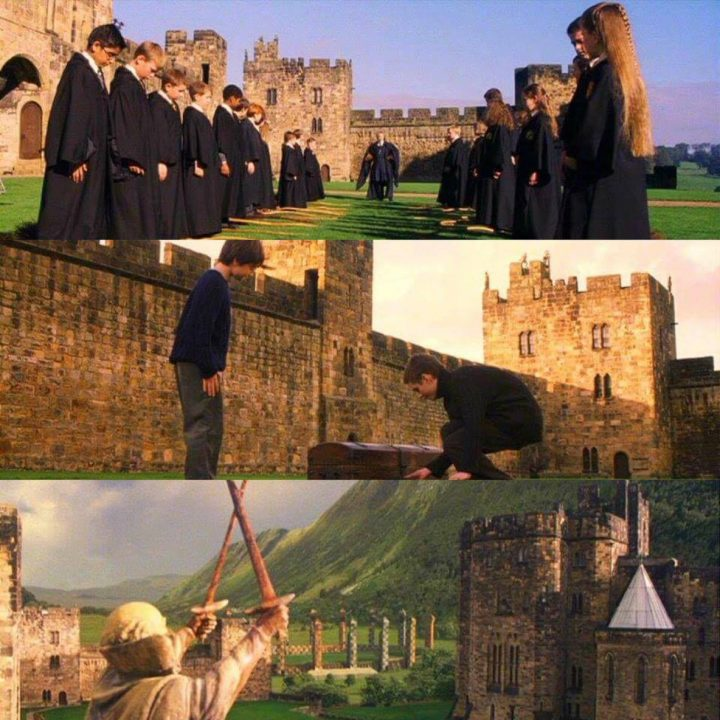 03. Sequenze del film Harry Potter nel giardino del castello di Alnwich