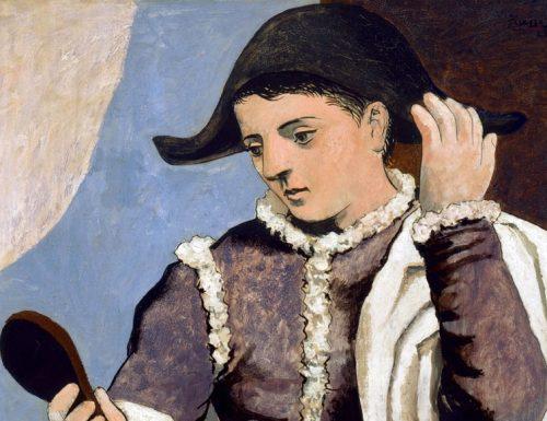 """Dentro l'opera: """"L'Arlecchino con specchio"""" di Pablo Picasso"""