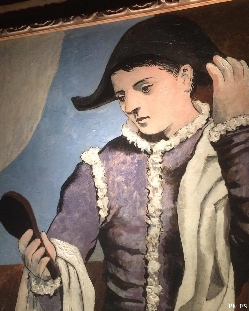 Dentro L Opera L Arlecchino Con Specchio Di Pablo Picasso