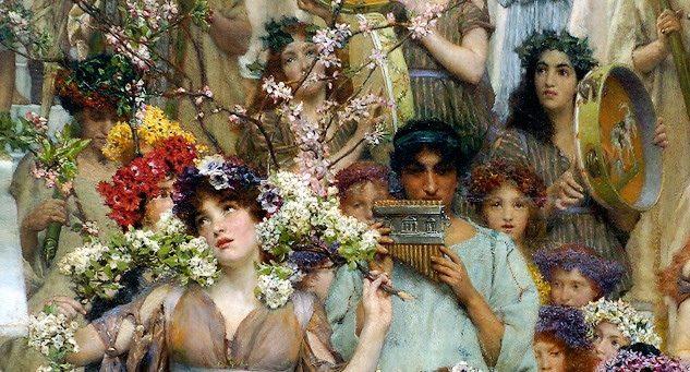 """La """"Primavera"""" di Alma Tadema, tra arte classica ed antiche cerimonie"""