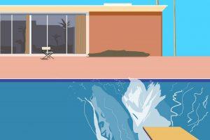 "David Hockney, ""A bigger splash"": un tuffo nel blu"