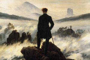"""Il """"Viandante"""" di Caspar David Friedrich: """"il naufragar m'è dolce in questo mare"""""""