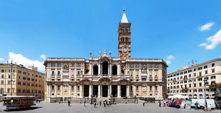 ROME, ITALY - JUNE 1: Basilica Santa Maria maggiore - Rome - outside on June 1, 2014, Rome, Italy.