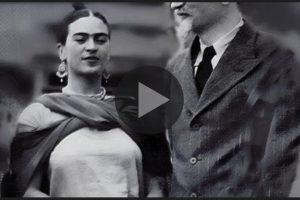 Frida Kahlo e Diego Rivera nella loro casa in Messico. Qui l'originale e rarissimo video in bianco e nero