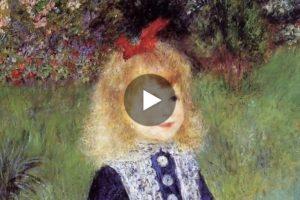 I bambini dipinti da Pierre-Auguste Renoir, un mondo di tenerezza e di dolcezza. Qui il video