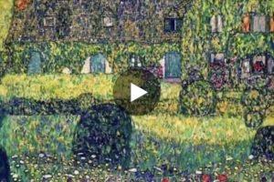 Passeggiando nei paesaggi di Gustav Klimt. Qui il video