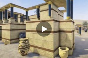 Il Palazzo di Cnosso in uno spettacolare video in 3D