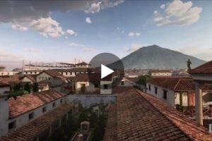 """""""Un giorno a Pompei"""": l'eruzione del Vesuvio in una spettacolare animazione in 3D"""