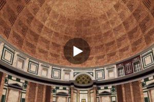 Il Pantheon in una spettacolare ricostruzione in 3D. Qui il video