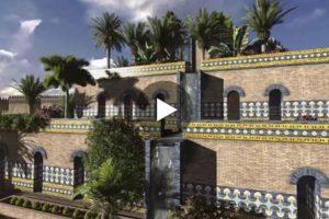 Gli splendidi giardini di Babilonia in una ricostruzione in 3D. Qui il video