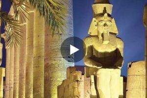 Il maestoso Tempio di Luxor in uno spettacolare video in 3D