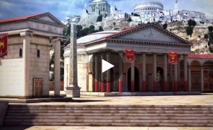 Viaggio nell'Antica Roma con uno spettacolare video in 3D