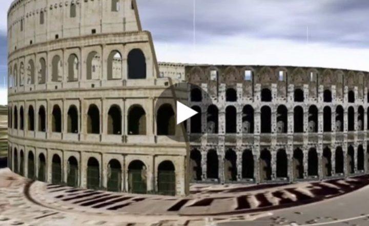 Il Colosseo in una straordinaria ricostruzione in 3D. Qui il video