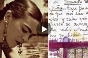 Il diario di Frida Kahlo in un video: passione, dolore e colore