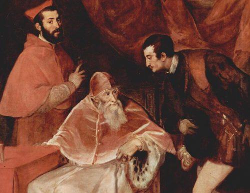 Tesori di Napoli: Il ritratto di papa Paolo III Farnese coi nipoti Alessandro e Ottavio. Quel gesto di riverenza forzata